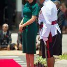 Meghan Markle enceinte en robe verte émeraude
