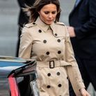 Melania Trump en trench Burberry