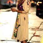 Sarah Jessica Parker porte un kimono beige