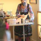 Sarah Jessica Parker en chemise à carreaux