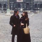 Serge Gainsbourg en caban noir