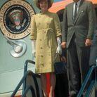Jackie Kennedy en manteau vert anis