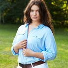 La chemise bleue