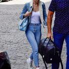 Gigi Hadid en total look jean