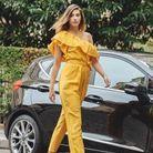 Camille Cerf et sa combinaison jaune