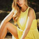 Camille Cerf et sa robe jaune