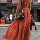 Sur une robe fluide