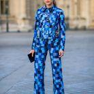 Monogramme sur ensemble en jean Louis Vuitton