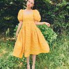 Robe jaune romantique