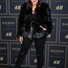 Atlanta de Cadenet  devant le photocall à la soirée Balmain X H&M