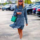 Blanca Miró et sa robe à carreaux