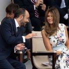 Melania Trump et Edouard Philippe