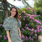 Robe longue imprimé fleuri H&M