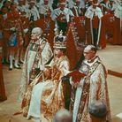 La reine Elizabeth II dans l'abbaye de Westminster
