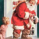 L'image du Père Noël pour une publicité Coca Cola