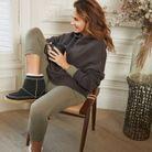 Legging kaki issu de la collection Cozy Wear de Ba&sh