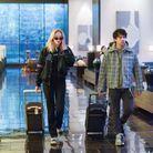 Sophie Turner et Joe Jonas avec des bagages Louis Vuitton