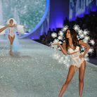 Lily Aldridge et Taylor Swift lors du défilé Victoria's Secret, en 2013