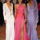 Liya Kebede en compagnie de Carolyn Murphy et Liz Hurley, deux autres égéries Estée Lauder, 2004
