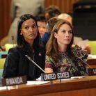Liya Kebede et Christy Turlington à l'ONU, lors de la conférence Healthy Women, Healthy Children: Investing in Our Common Future, en 2009