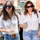 Katie Sturino en Dakota Johnson