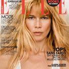 Claudia Schiffer en couverture de ELLE par Peter Lindbergh