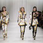 L'imprimé baroque de Gianni Versace sur le podium Versace printemps-été 2018