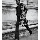 Manteau et pull, Prada. Pantalon, Loro Piana. Bottes, Hermès.