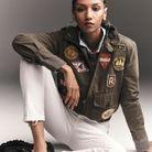 Blouson, Polo Ralph Lauren. Pull et mocassins, Celine par Hedi Slimane. Chemise et jean, Levi's Red Tab.