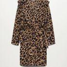 Robe imprimé léopard soldée Mango