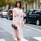 Jeanne Damas et ses sandales avec robe florale