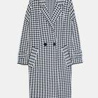Manteau pied de coq soldé Zara