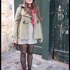 Mode tendance look street style manteau camille