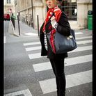 Mode street style look rue tendance foulard army charmy