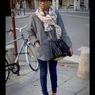 Mode street style look rue tendance foulard preppy sexy 9f82b2a8f7f