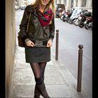 Mode street style look rue tendance foulard rock boheme