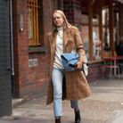 Jean + bottines + pull + trench