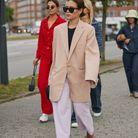 Un blazer oversize avec un pantalon droit