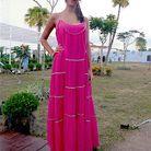Mode look tendance street style bresil robe rose