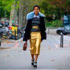 Une jupe dorée
