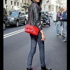 Mode street style look tendance cuir gangsta girl