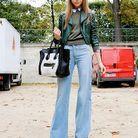 Mode street style look tendance cuir trendy lady