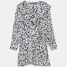Robe courte à imprimé animal Zara