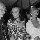 Diane von Furstenberg avec Andy Warhol en 1974