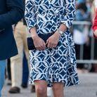 Kate Middleton avec une robe DvF en 2014