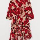 Robe courte imprimée H&M