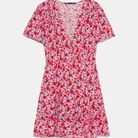 Robe courte fleurie Zara