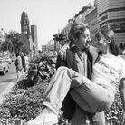 Jane Birkin portant un t-shirt et Serge Gainsbourg