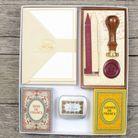 Coffret pour la correspondance (cartes, enveloppes, sceau, tampon…), Vacances Françaises