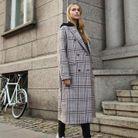 Le manteau à carreaux Samsoe Samsoe de Pernille Teisbaek